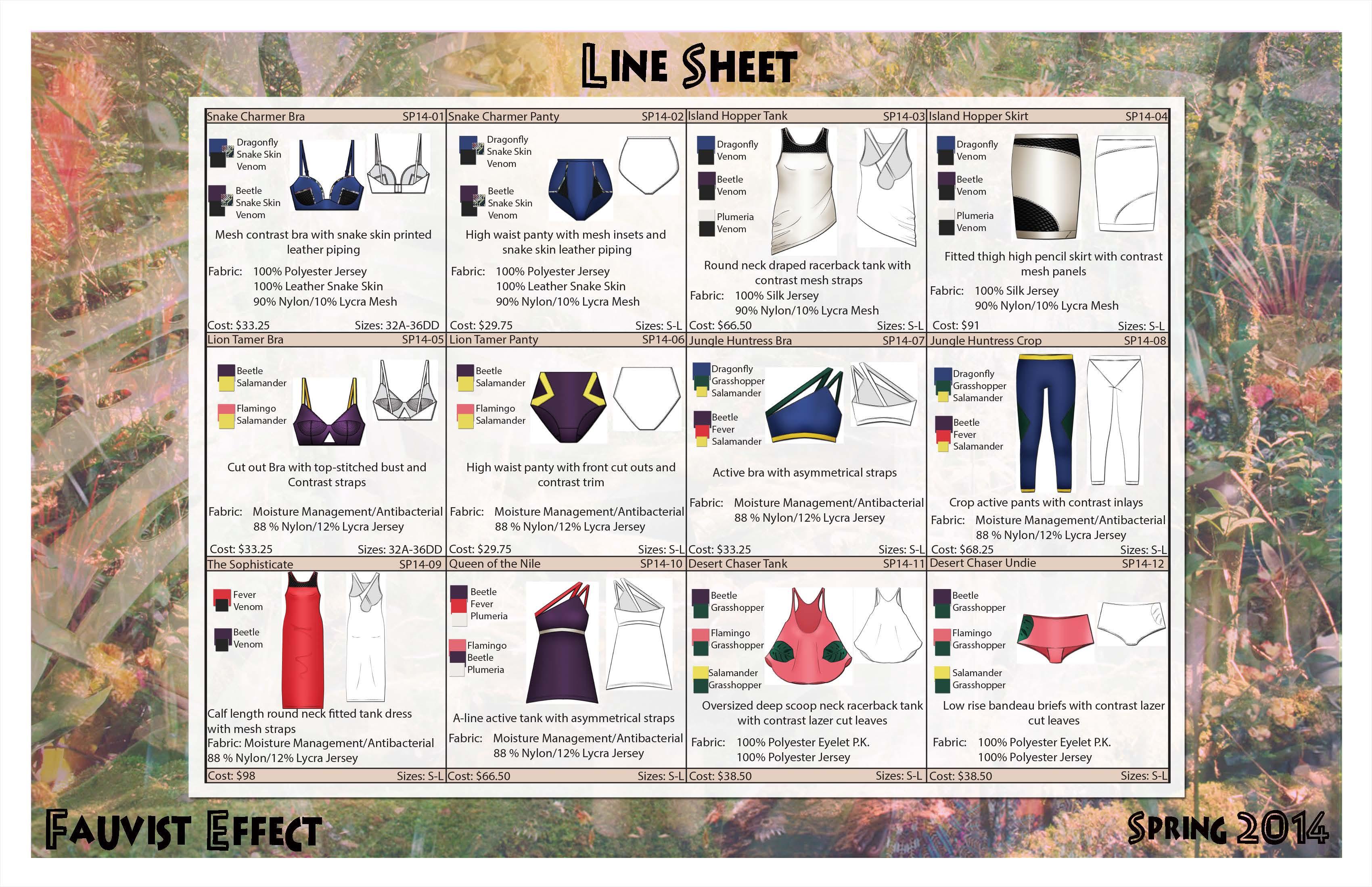 VPL Line Sheet | Dalliance Dilemma